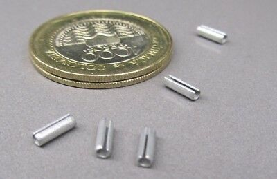"""Zinc Plate Steel Slotted Roll Spring Pin, 5/64"""" Dia x 1/4"""" Length,  250 pcs"""