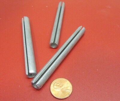 "Zinc Plate Slotted Roll Spring Pin, 3/8"" Dia x 3 1/2"" Length, Pkg of 20 pcs"