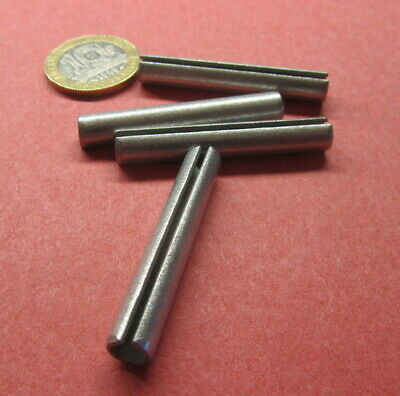 """Zinc Plate Steel Slotted Roll Spring Pin, 1/4"""" Dia x 1 5/8"""" Length,  100 pcs"""