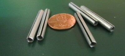 "Zinc Plate Steel Slotted Roll Spring Pin, 5/32"" Dia x 1 1/4"" Length,  200 pcs"