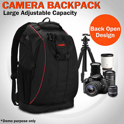 Shockproof DSLR Camera Backpack Rucksack Bag Case For Canon EOS Nikon Sony