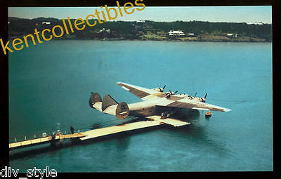 Pan American Airways B-314 airplane postcard Boeing flying boat (card2)
