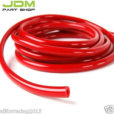 "Red ID:1/4"",0.25"" (6MM) SILICONE VACUUM HOSE TUBE PIPE RACING TURBO---1 foot"