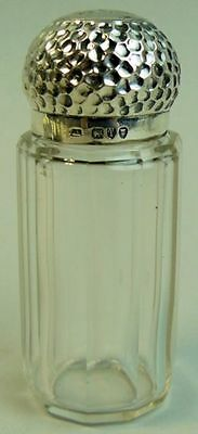 A Fine Victorian Antique Silver & Faceted Glass Dressing Table Pot London 1894