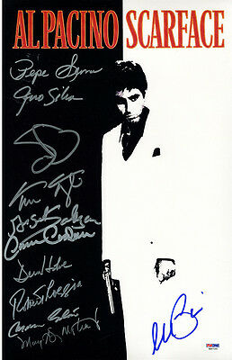 Steiner Scarface 11x17 Autographed Movie Poster (PSA/DNA)