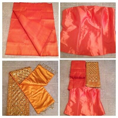 Khmer Cambodia Traditional Wedding Skirt Fabric / Sash Outfit