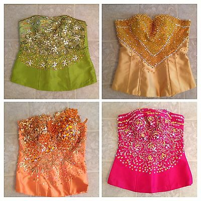 Lot Of 4 Khmer Cambodia Traditional Wedding Bride Shirt