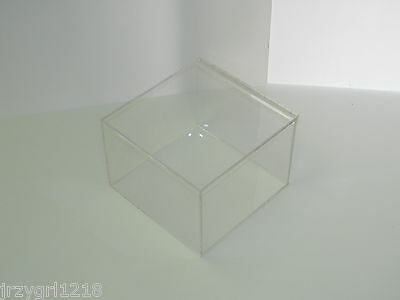 "Handcrafted Clear Acrylic Display Box 12"" x 12"" x 12"" Display Box 1/4"" Thick"