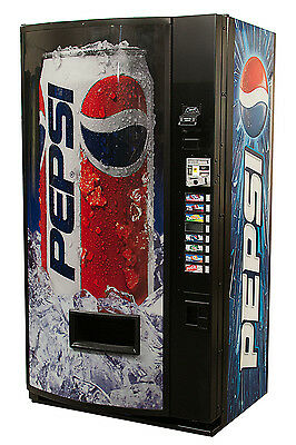 Vendo V480 8 Selection Single Price Soda Can Vending Machine with Pepsi Graphic