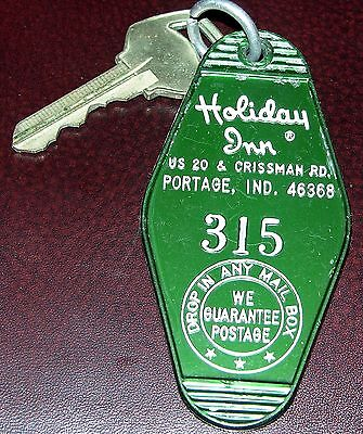 Vintage Holiday Inn Portage, IND  Hotel Motel Room Key & Fob Room #315