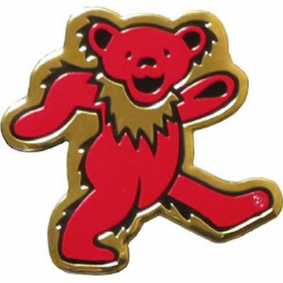 GRATEFUL DEAD - BEAR LOGO - METAL STICKER 3 x 3 - BRAND NEW - CAR DECAL 7631