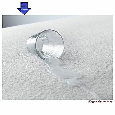 Terry Towelling Mattress Protector Waterproof Fitted  Cot Bed Bun Bed Protector