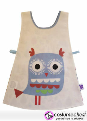 Woodlands Owl Childrens Art and Craft Waterproof Painting Tabard Apron by Shreds