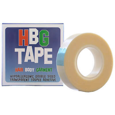 Single HBG Tape (Hair; Body and Garment) Wig & Toupee Adhesive 5m roll x 12mm
