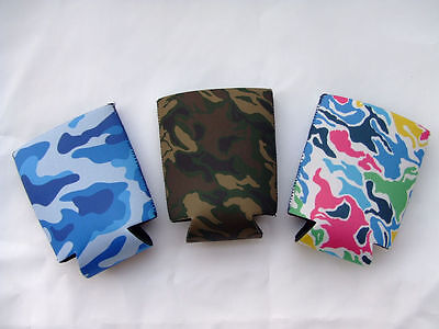 3PCS New Soda Water Cola Beer Stubby Holder Can Cooler Neoprene Camo Can Cooler