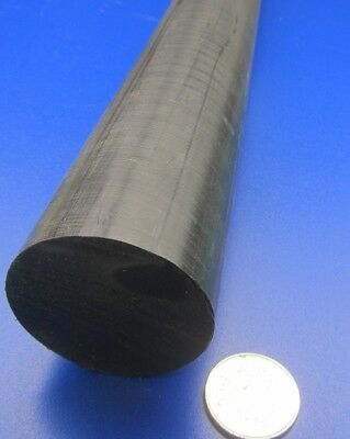 "Nominal Extruded Nylon 6//6 Round Rod 60/"" Length x 3//4/"" Diameter - Black"