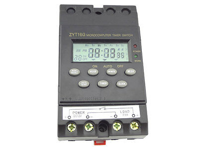 1 x 12V Timer Switch Timer Controller LCD display,program/programmable 25A amps