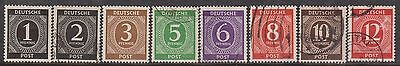 (GA-17) 1946 Germany mix of 22 numeral stamps 1pf to 80pf