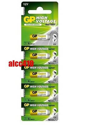 5x GP 27A A27 MN27 2C5 L828 12V High Voltage Single Use Alkaline Battery