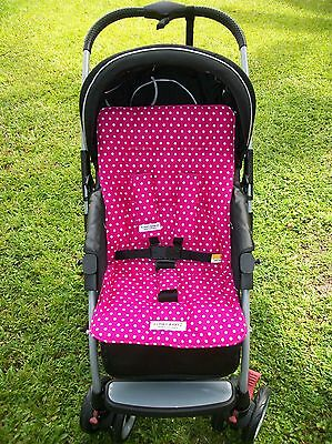 *HOT PINK POLKA DOT*universal stroller,pram,car seat liner set *NEW*