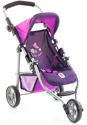 Bayer Chic 2000 Mini Puppenjogger Lola Pflaume Puppenwagen Jogger Buggy Kinder