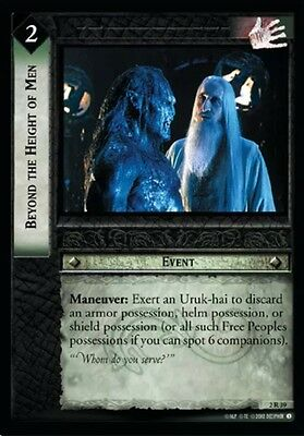 LORD OF THE RINGS TCG - 2R 39 Beyond The Height Of Men - Decipher Tcg  - Rare