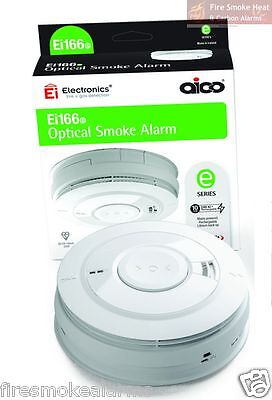 NEW UPGRADED Ei166RC AICO PROFESSIONAL 10 Year OPTICAL SMOKE FIRE ALARM Ei166e