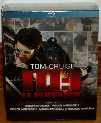 Mision Imposible Mission Impossible Cuatrilogia 4 Blu-Ray Precintado Castellano
