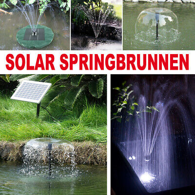 solarpumpe teichpumpe wasserspiel gartenteich pumpe springbrunnen gartenbrunnen eur 19 95. Black Bedroom Furniture Sets. Home Design Ideas