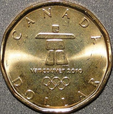 BU Canada 2010 Lucky Loonie for Olympic $1 dollar coin (Vancouver Inukshuk Logo)