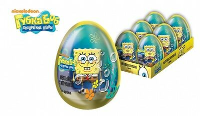 SpongeBob Squarepants VERY BIG PLASTIC EGG WITH 3D TOY and DRAGEE NEW COLLECTION