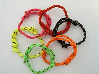72 Bright NYLON Friendship ROPE BRACELETS New FREE SHIP party favors supplies