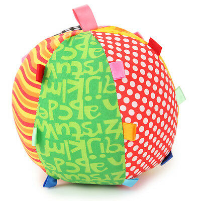 Baby Kids Infant Music Safe Soft Cloth Colorful Ball Educational Toys