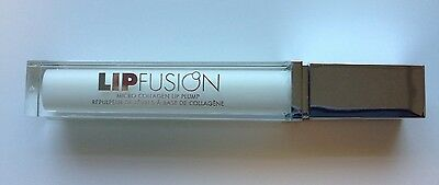 Fusion Beauty LipFusion Micro Collagen Lip Plump Gloss ~ Clear ~  Full Size!!