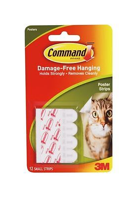 12 X 3M Command Small Poster Adhesive Hanging Strips Damage Free