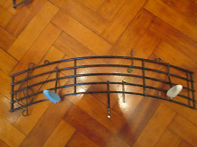Vintage French 1950s musical notes wall hooks