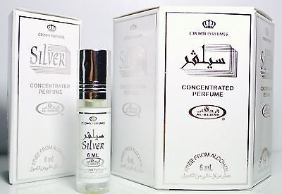 Silver 6ml (box of 6) Al Rehab Perfume Oil/Attar/Ittar