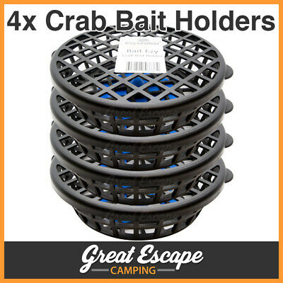 Bait Ezy Crab Bait Holder Cage w/ Base Clip for Crabs Yabbies Redclaw 4 Pack