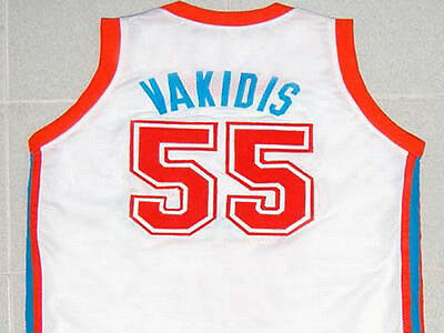 SEMI-PRO FLINT MOVIE Tropics Vakidis Jersey White New Sewn Any Sze ... 122836b37