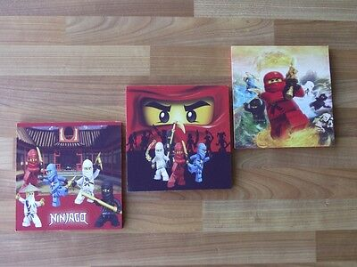 Lego Ninjago Canvas Wall Art Plaques/pictures Set- Free Postage