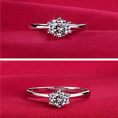 Fashion Womens Silver Diamond Rings for Women Wedding Engagement Crystal Jewelry