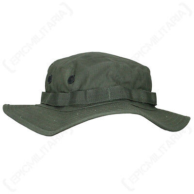 US Olive Green Boonie Jungle Cap - All Sizes Military Army Vietnam Sun Hat Bush