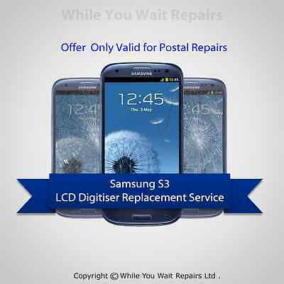 SAMSUNG GALAXY S3 DIGITIZER + LCD SCREEN + FRAME REPAIR REPLACEMENT fast SERVICE