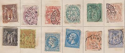 (LU35) 1862-1940 France mix 70stamps used &mixed condition