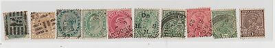 (LU80) 1860-1911 India 10mix of stamps QVIC Edward &KGV