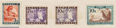 (ID-3) 1949 Indonesia 12stamps republic mix MH
