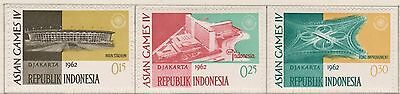 (ID-9) 1960 Indonesia partial set of 10stamps 4th Asian games