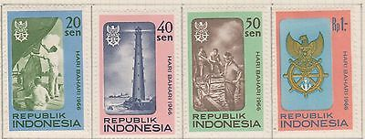 (ID-13) 1966 Indonesia 8set of maritime days tamps MH
