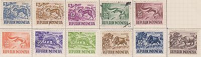 (ID-6) 1956-58 Indonesia mix 13stamps