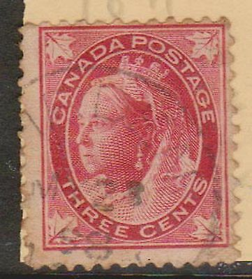(LU100) 1897 Canada 3c red QVIC (A)